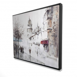 Framed 48 x 60 - 3D - Gray city street