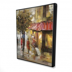 Framed 48 x 60 - 3D - Abstract street with passers