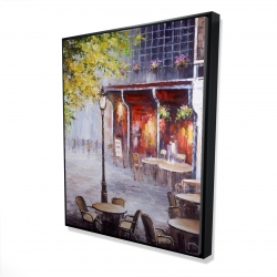 Framed 48 x 60 - 3D - Outdoor restaurant by a nice day