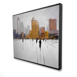 Framed 48 x 60 - 3D - City on the horizon