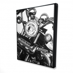 Framed 48 x 60 - 3D - Realistic motorcycle