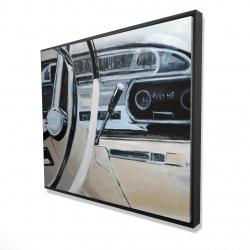 Framed 48 x 60 - 3D - 1950s car dashboard