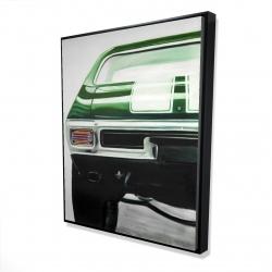 Framed 48 x 60 - 3D - Classic dark green car