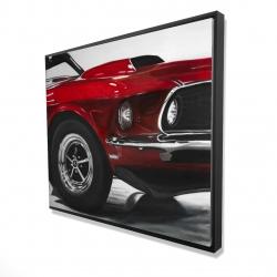 Framed 48 x 60 - 3D - Classic red car