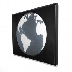 Framed 48 x 60 - 3D - Earth satellite view