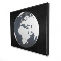 Framed 48 x 60 - 3D - Earth