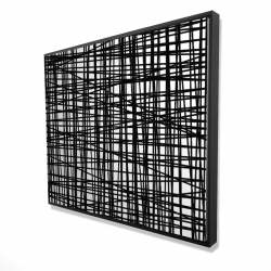 Framed 48 x 60 - 3D - Abstract small stripes