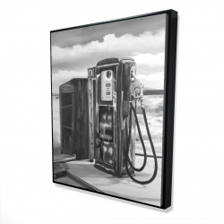 Framed 48 x 60 - 3D - Old gas pump