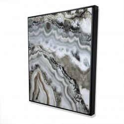 Framed 48 x 60 - 3D - Abstract geode