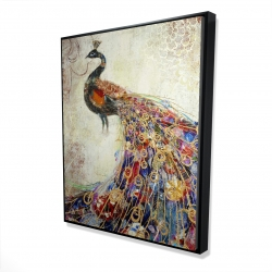 Framed 48 x 60 - 3D - Majestic peacock