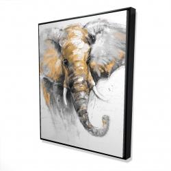 Framed 48 x 60 - 3D - Beautiful golden elephant