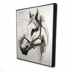 Framed 48 x 60 - 3D - Flicka the white horse