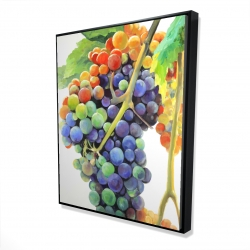 Framed 48 x 60 - 3D - Colorful bunch of grapes