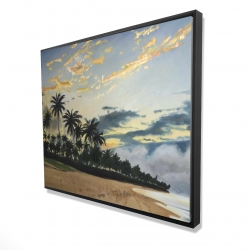 Framed 48 x 60 - 3D - Tropical summer moments