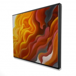 Framed 48 x 60 - 3D - Colorful smoke