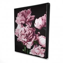 Framed 48 x 60 - 3D - Pink peonies