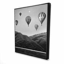 Framed 48 x 60 - 3D - Air balloon landscape