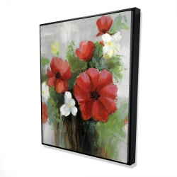 Framed 48 x 60 - 3D - Abstract wild flowers bundle