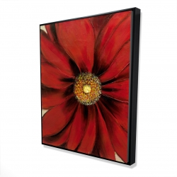 Framed 48 x 60 - 3D - Red daisy
