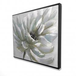 Framed 48 x 60 - 3D - White chrysanthemum