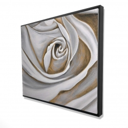 Framed 48 x 60 - 3D - White rose closeup