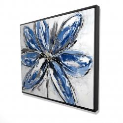 Framed 48 x 60 - 3D - Blue petal
