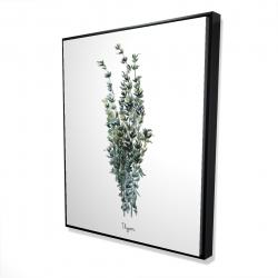 Framed 48 x 60 - 3D - Thyme leaves bundle - fr