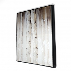 Framed 48 x 60 - 3D - Abstract white birches