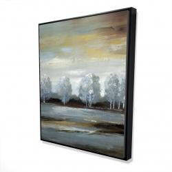 Framed 48 x 60 - 3D - Grey landscape