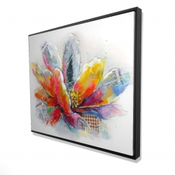 Framed 48 x 60 - 3D - Abstract flower with texture
