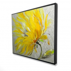 Framed 48 x 60 - 3D - Yellow flower