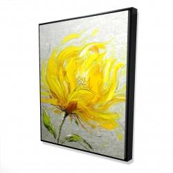Framed 48 x 60 - 3D - Yellow fluffy flower