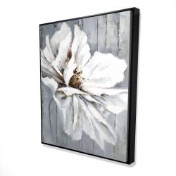 Framed 48 x 60 - 3D - Flower on wood