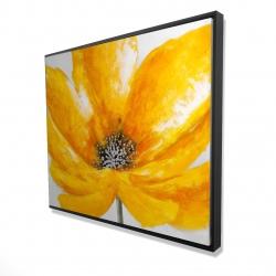 Framed 48 x 60 - 3D - Big yellow flower