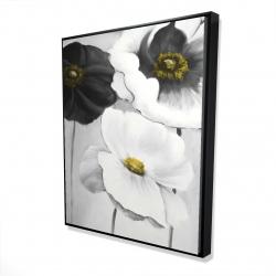 Framed 48 x 60 - 3D - Assorted white flowers