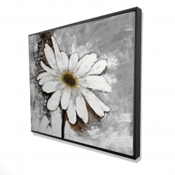 Framed 48 x 60 - 3D - Abstract daisy