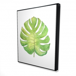 Framed 48 x 60 - 3D - Tropical leaf