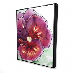 Framed 48 x 60 - 3D - Blossoming orchid with wavy petals