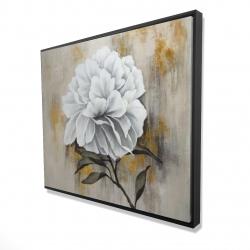 Framed 48 x 60 - 3D - White peony
