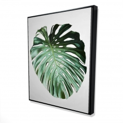 Framed 48 x 60 - 3D - Monstera leaf