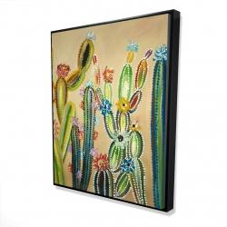 Framed 48 x 60 - 3D - Desert gems