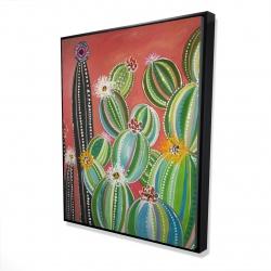 Framed 48 x 60 - 3D - Rainbow cactus