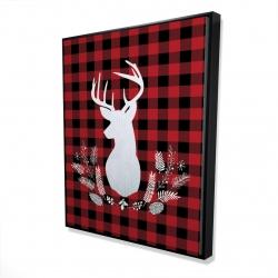 Framed 48 x 60 - 3D - Deer plaid