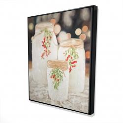 Framed 48 x 60 - 3D - Christmas candles