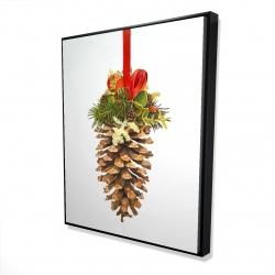 Framed 48 x 60 - 3D - Christmas pine cone