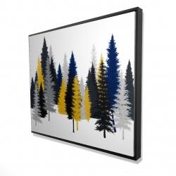 Framed 48 x 60 - 3D - Golden fir