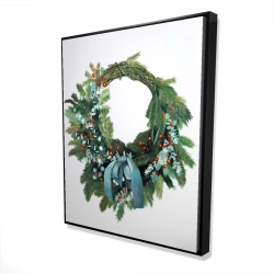 Framed 48 x 60 - 3D - Christmas wreath