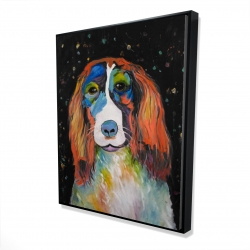 Framed 48 x 60 - 3D - Colorful dog