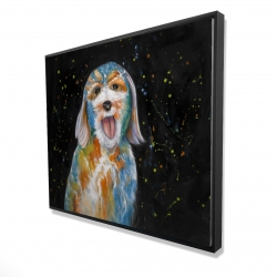 Framed 48 x 60 - 3D - Abstract labradoodle