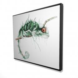 Framed 48 x 60 - 3D - Chameleon on the lookout